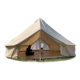 OEM Custom capacity accept family camping big tent canvas tent PVC ground sheet
