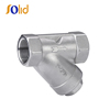 Stainless steel SS 304 NPT/BSP threaded end Y strainer 200 PSI