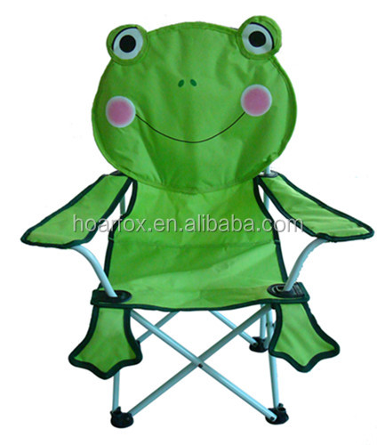 Adorable frog desig fabric kids party chair