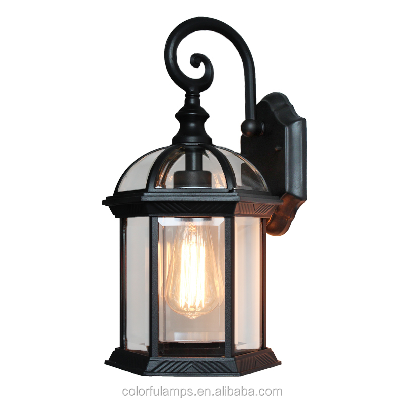 Hot Sales Euro-style Casting Alumium up and down outdoor waterproof Vintage lantern wall lamp with LED Bulbs for Garden