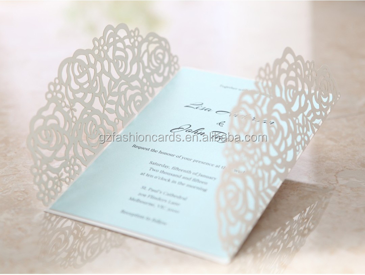 Hot Elegant Laser Cut 2017 Latest Wedding Card Designs
