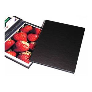 "Print File Wire Bound Portfolio Edition Album, 11x14"" Format, Black, with Twelve Pages, Dimensions: 12-7/16"" w x 14-15/16"" h"
