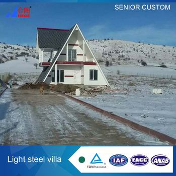 A shape house Villa Light steel villa quick installation LGS Villa