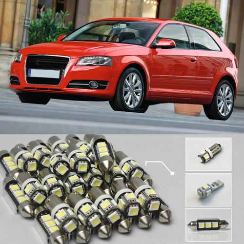 12 xWhite Canbus из светодиодов интерьер лёгкие комплект для 2006 - Audi A3 S3 ( 67 )