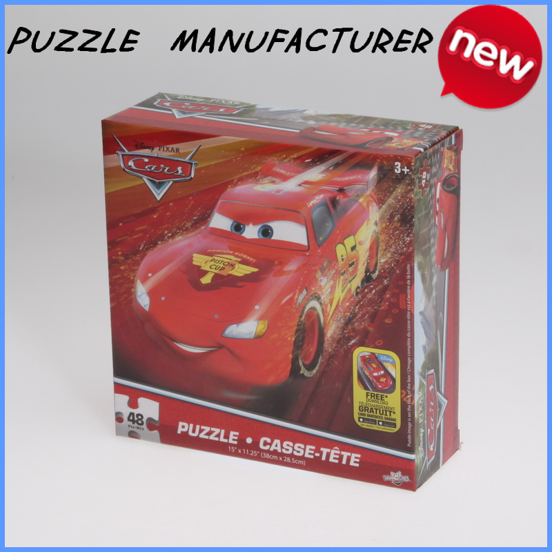 Intelligent toy kids car games 48 pieces toy car a4 puzzle