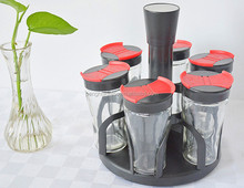 Mini <span class=keywords><strong>glas</strong></span> spice sauzen jar rack <span class=keywords><strong>set</strong></span>