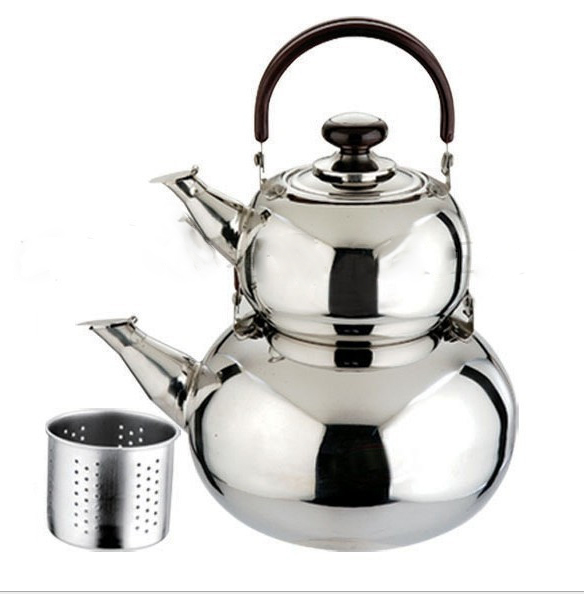 Stainless steel child and mother pot set tea pots/ kitchen cooking tea kettle and water