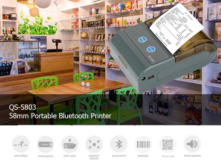 Cheap Mini handheld bill receipt printer 58mm Bluetooth thermal printer