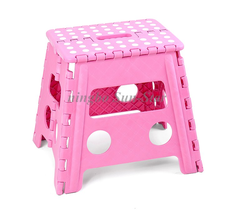 Eco Friendly Portable Foldable Plastic Folding Foot Stools