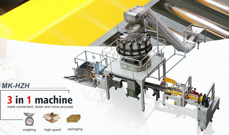 Full automatic high speed hardware bolt plastic screw carton box weighing and packing machine