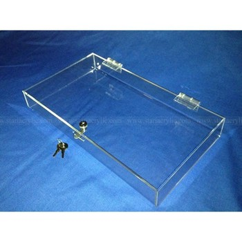 Countertop acrylic locking display case lockable clear for Where to buy lucite