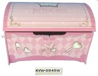 Kids Wooden Princess Treasure Toy Chest/ Toy Box