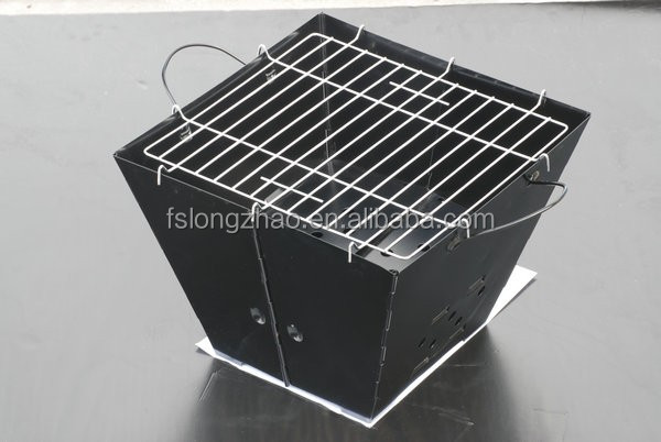 Iron powder coat finish folding portable charcoal bbq grill