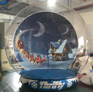 2019 Hot Sales Inflatable Giant Snow Globe Christmas Inflatable Human Size Snow Globe