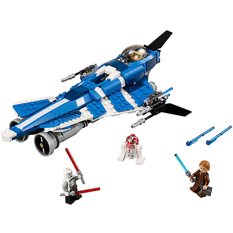 Star Wars Building Blocks Anakins Custom Jedi Starfighter Toys figureset Compatible With lego