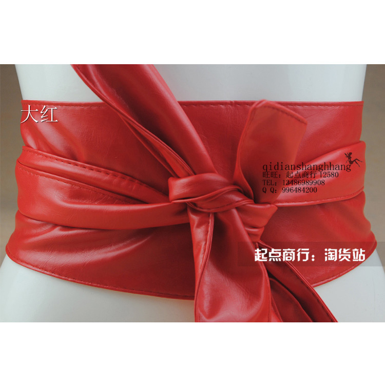 #3023 stock long size women soft pu belt in various colors available