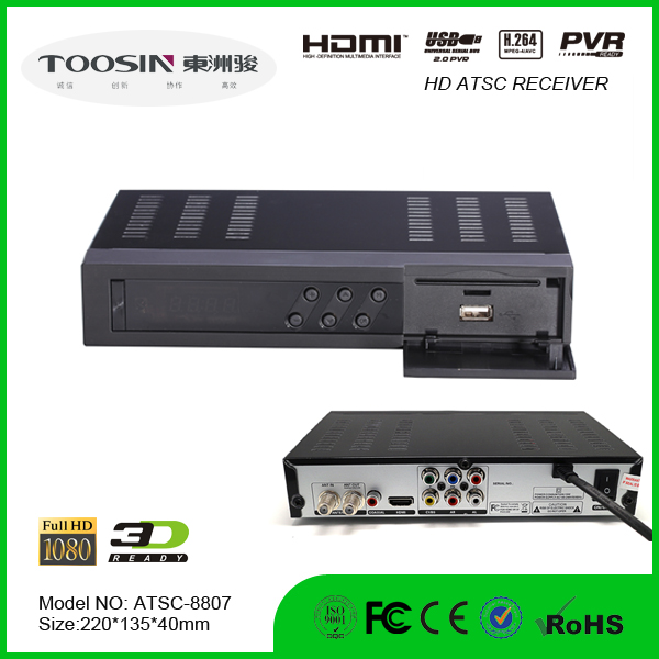 ATSC NTIA and 8VSB Standard atsc m3 digital tv box High quality atsc set top box