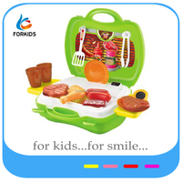 KIDS PLASTIC COOKING BBQ PLAY SET TOYS,EDUCATIONAL TOYS FOR PRE-SCHOOL CHILDREN