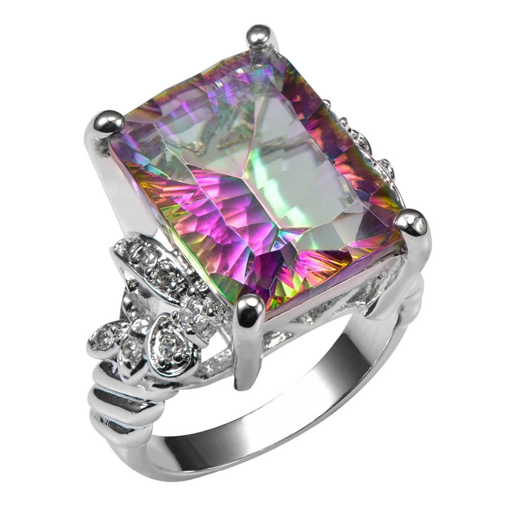 Luxury British Kate Engagement Wedding Rainbow Fire Mystic