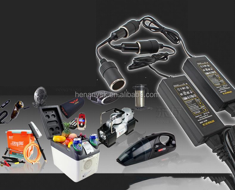 Power Source Transformers 110v 220v to 12v for Car Fridge with UK EU USA Plugs