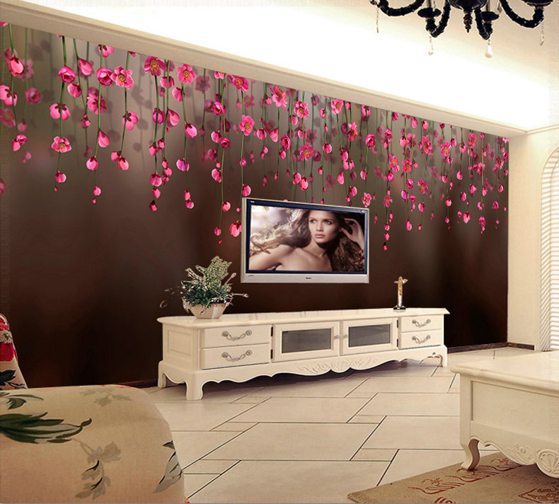 bedroom tv picture more detailed picture about 3d wall murals wall paper mural luxury. Black Bedroom Furniture Sets. Home Design Ideas