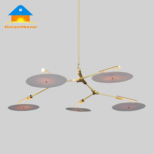 Postmodern acrylic records tree modern LED chandelier lamp