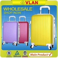 2016 hot sale durable hard shell Trolley Suitcase scratchproof ABS luggage with Pure Color
