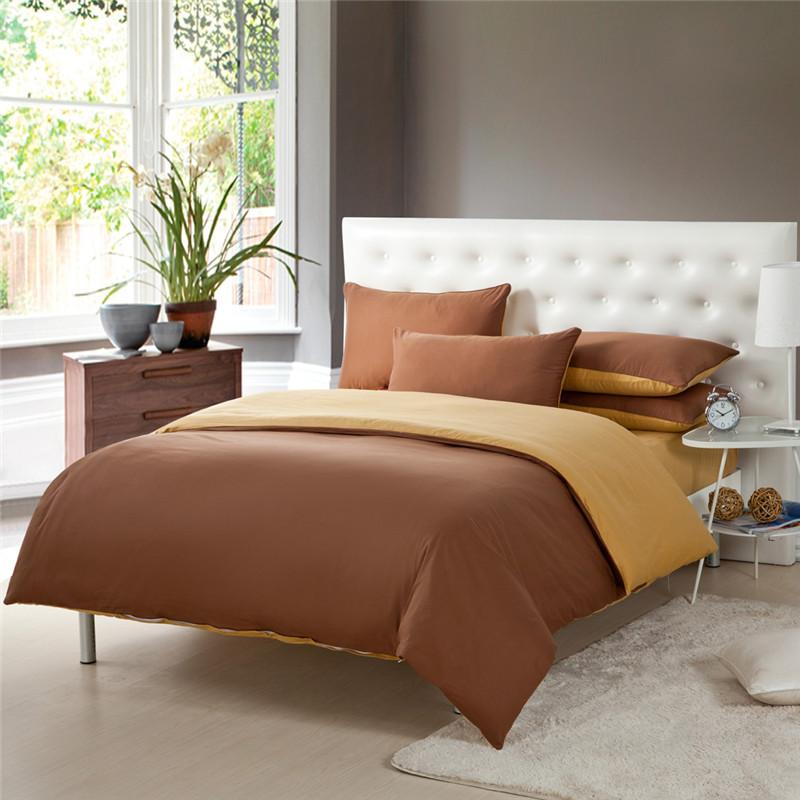 Modern Coffee Gold Two Tone Bedroom Bedding Sets Duvet