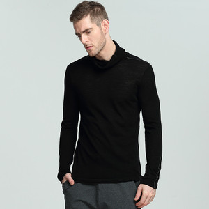 100% merino wool t-shirt men thermal winter T shirt