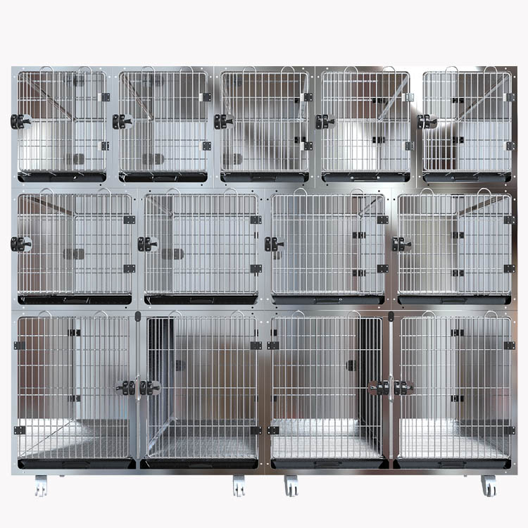 Stainless Steel Logam Kennel Grid PET Kandang Anjing