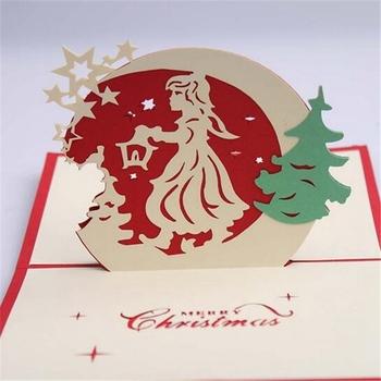 Buon Natale 3d.Origami Handmade 3d Biglietto Di Auguri Di Buon Natale Babbo Natale