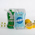 Custom security laminated material plastic flexible drink liquid water yoghurt stand up packing bag spout pouch