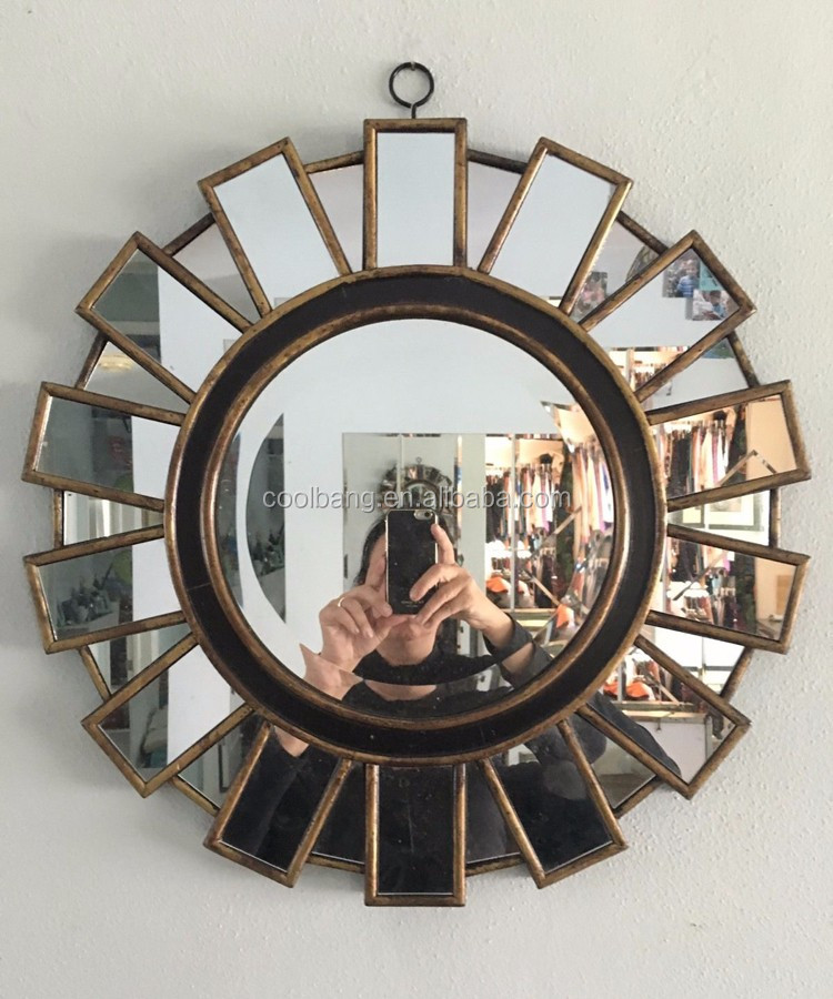 Coolbang Cbm110 Round Hanging Mdf Framed Sunburst Wall Mirror Mirrors Product On