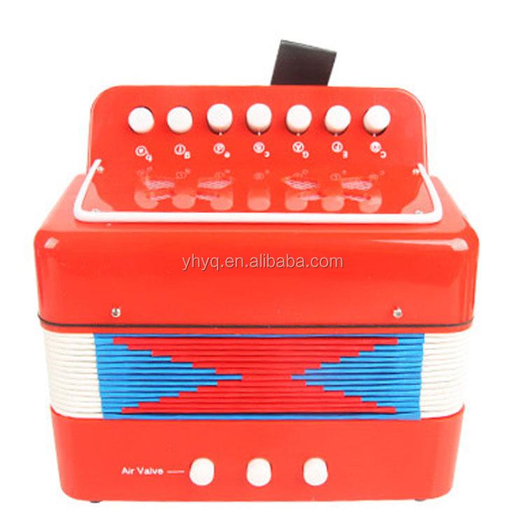 מודרניסטית 7 כפתור 2 בס 14 טון Junior אקורדיונים, צעצוע לילדים אקורדיון, כלי QN-54