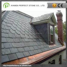 Black lightweight natural slate roof tiles for sale
