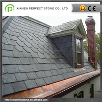 Black lightweight rubber slate roof tiles for sale