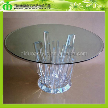 Ddh-t001 Iso9001 Chinese Factory Made Sgs Test Luxury Clear Acrylic Round  Dining Table - Buy Clear Acrylic Round Dining Table,Clear Acrylic Round