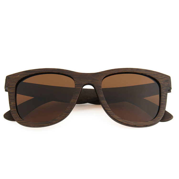 factory wholesale big Bamboo <strong>grain</strong> polarized sunglasses