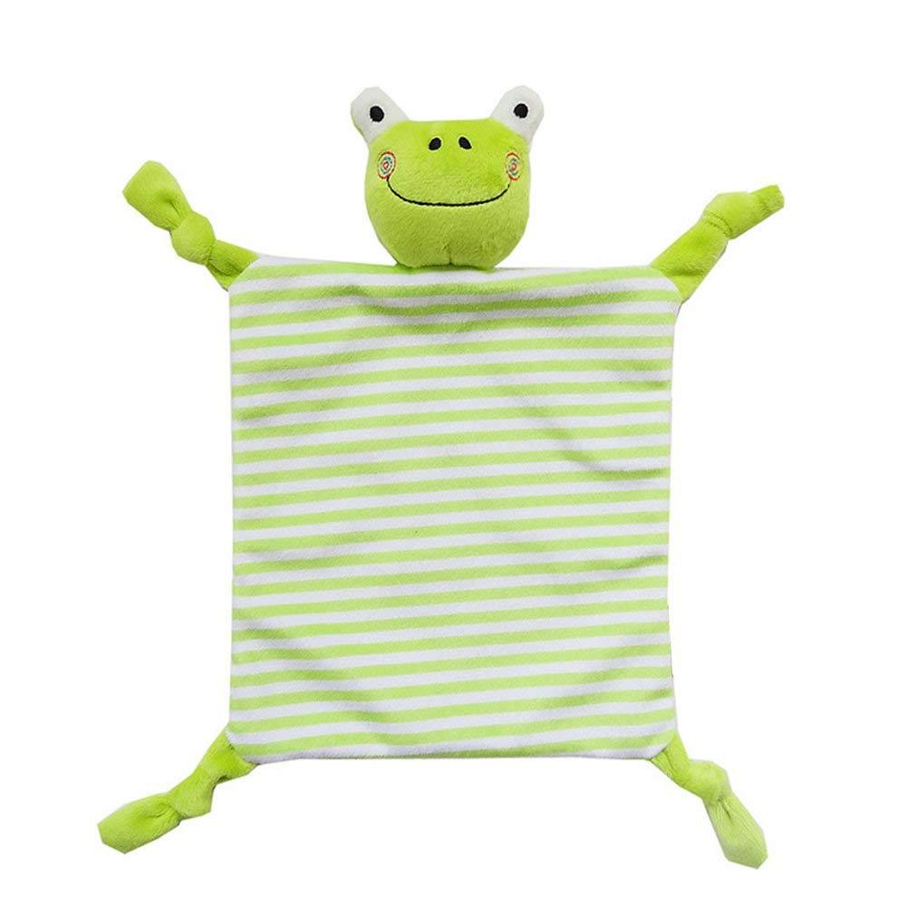 INCHANT Baby Security Blankie,Frog Snuggler Comforter Blanket For Baby Infant Tollder Adorable Soother Blanket Entertainment Comforter Blanket