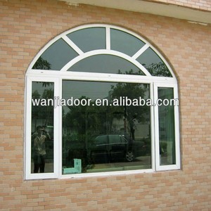 pvc arch window with grills