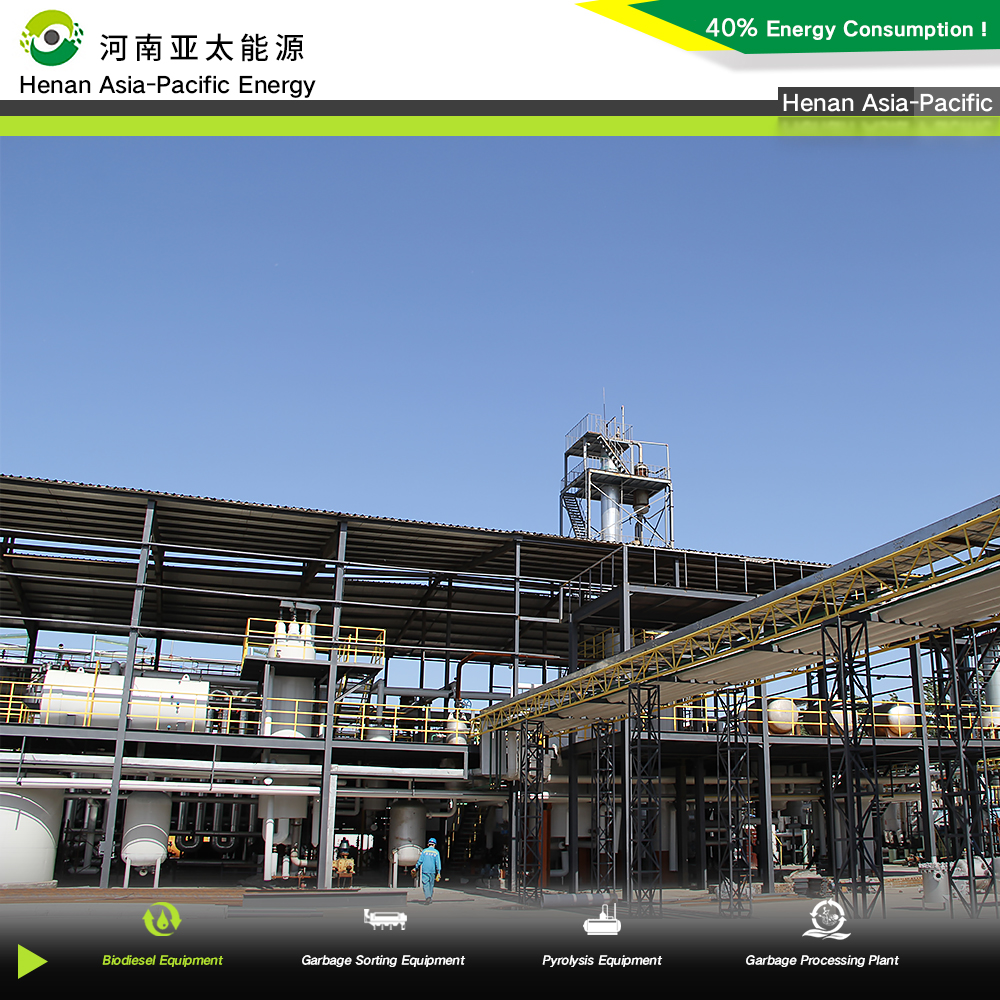 Distillation column for biodiesel manufacturing plant