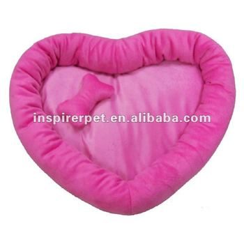 soft pet bed red heart shape dog bed