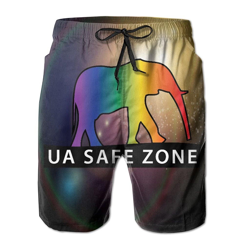 GYang Mens Beach Shorts Softball Summer Printed Swim Breathable Quick-Drying Shorts Swim Trunks Boardshorts