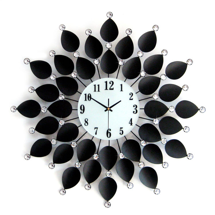 china flower wall clock china flower wall clock manufacturers and suppliers on alibabacom - Designer Wall Clocks Online