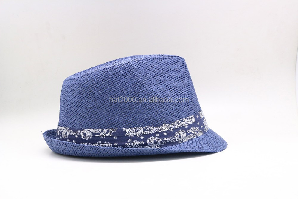 alibaba trade assurance available promotional fedora straw hat unisex