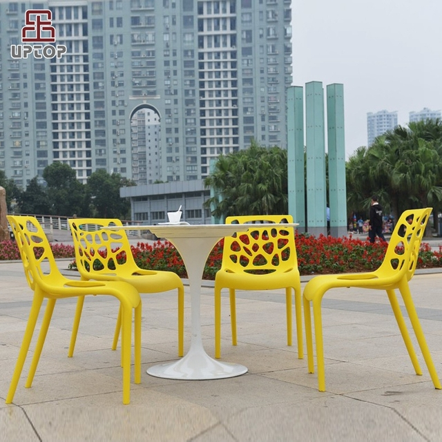 (SP-UC305) Modern Colorful Accent Chair Strong Plastic Stackable Dining Chairs