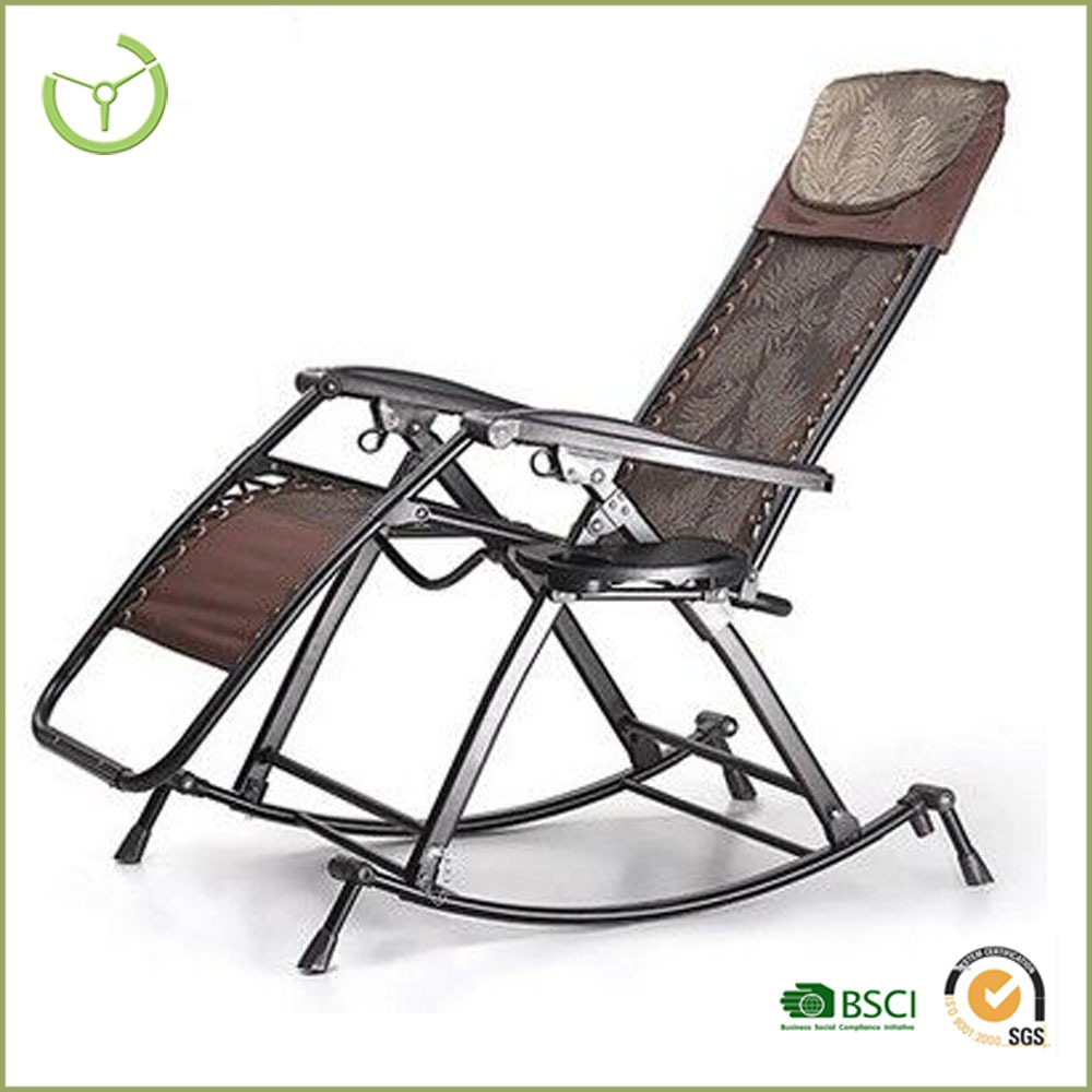folding camping recliner rocking zero gravity outdoor reclining chair