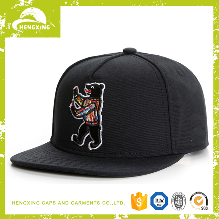 Material for snapback cap embroidery logo custom design your own snapback cap