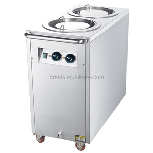 Commercial restaurant double head electric plate warmer