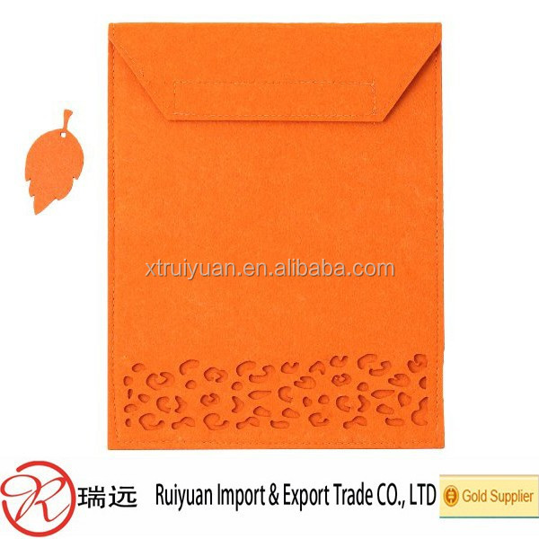 Alibaba hot seller laser cut design felt Macbook cover